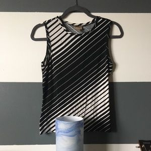 Striped b&w tank